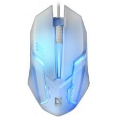 Мышка Defender Cyber MB-560L White проводная с подсветкой