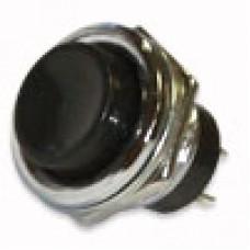 Кнопка DS-212 без фиксации OFF-(ON) черная