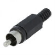 Штекер на кабель RCA тюльпан пластик Черный