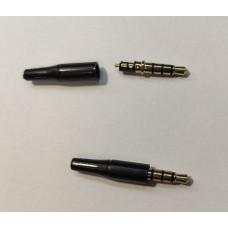 Штекер на кабель 3-pin 3.5mm пластик черный