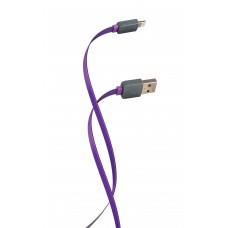ДАТА КАБЕЛЬ FLORENCE COLOR LIGHTNING 1M 2A PURPLE