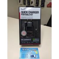 Зарядний пристрій JELLICO AQC34 1USB 3A QC3.0 + MICROUSB CABLE BLACK
