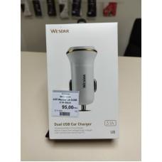 Автомобильное зарядное устройство Wesdar U8 2USB 3.1A Black