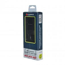 Зарядний пристрій + microUSB кабель 1USB 2A 1m Florence
